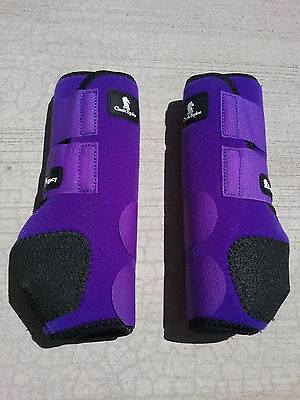 legacy boots horse tack PURPLE FRONT classic equine SMB sport medicine boots