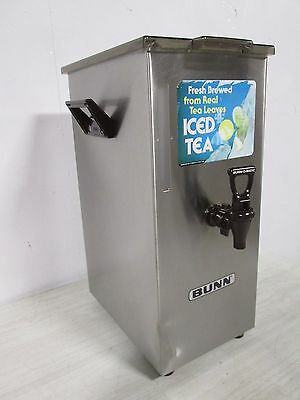 """bunn -Tdo 4Tall"" H.d. Commercial Stainless Steel Iced Tea Holder / Dispenser"