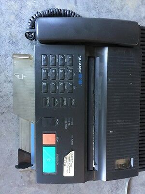 Vintage SHARP UX-100 Fax Machine And Phone