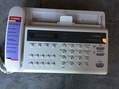 canon fax phone 16 fax machine used good condition
