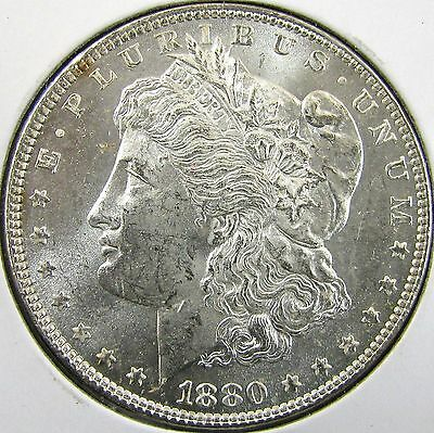 #2994 Raw Brilliant Uncirc. Quality MS++ 1880-P Morgan Silver Dollar No Reserve