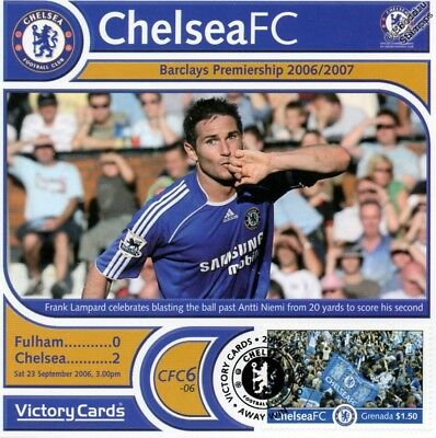 Frank Lampard CHELSEA Football Club Victory Card Stamp Album / Cover Collection