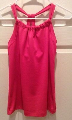 Danskin Now Dance Top Size S/ch (4-6) Bright Pink Athletic Top,Great Condition