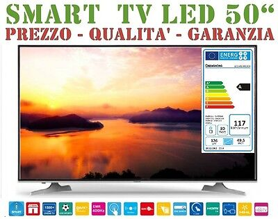 *nuovo* Smart Tv Led Full Hd 50'' Changhong Led50D3000Isx Dvb-T Wifi Nero