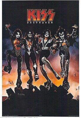 Kiss ' Destroyer ' Awesome Poster Simmons Party Room 24'' X 36'' New