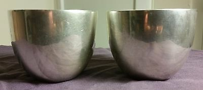 Stieff Sterling Silver Jefferson Cups 0709-10 Not Monogrammed Set of 2