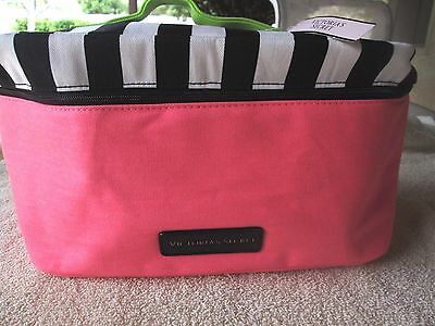 Victoria's Secret Travel Bag ~For Delicates~ Pink,White,Black & Green ~ NEW