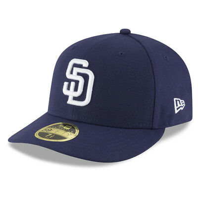 New Era 5950 San Diego Padres HOME Low Profile Fitted Hat (LTNV) MLB Cap