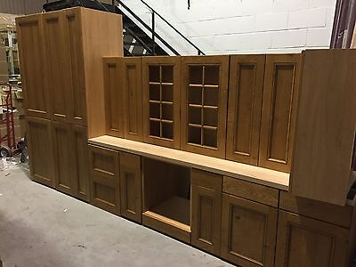complete kitchen solid oak larders /base and wall units