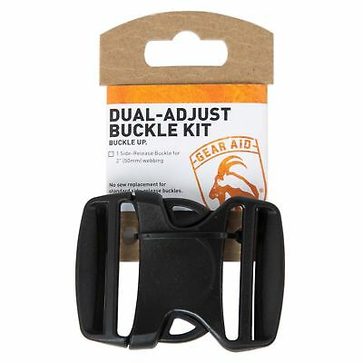 Gear Aid Dual-Adjust Buckle Kit For 2-Inch Webbing No-Sew Replacement Repair