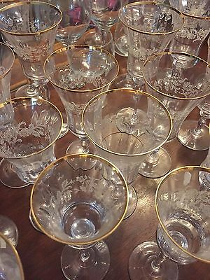 Mikasa Antique Lace water goblet crystal stemware