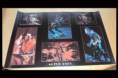 Kiss Poster 1975 Dressed To Kill / Alive ! 24X36 Brand New Print Gorgeous