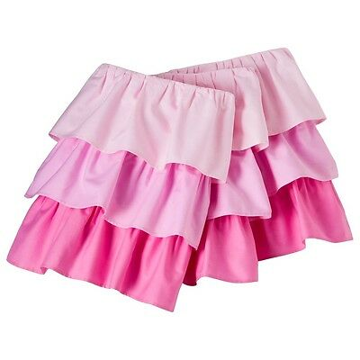 "NEW Circo Triple Ruffle Pink Crib Skirt Dust Ruffle Ombre Bedskirt NWT 28"" x 52"""