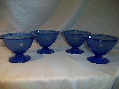 Hazel Atlas Depression Glass Royal Lace Sherbet-Footed Bowls