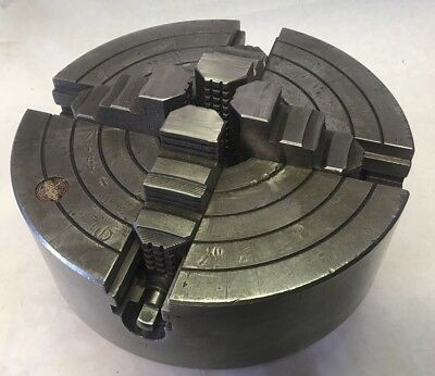 """10"""" Rohm D1-6 4-Jaw Scroll & Independent Metal Lathe Chuck Southbend Clausing"""