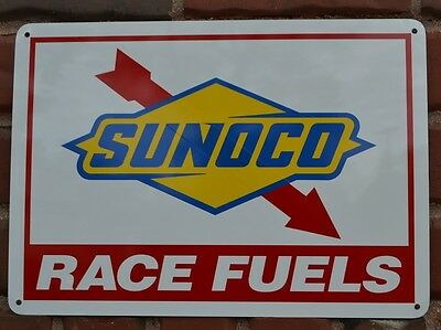 Sunoco Racing Fuel Gas Pump SIGN Service Station sign Race Fans Garage Shop 7day