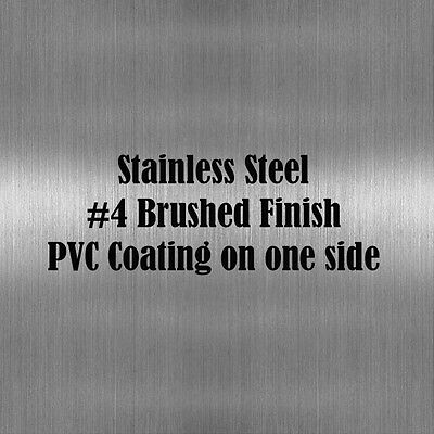 """2 pieces of 6"""" x 9"""" Stainless Steel Sheet Metal .075"""" Thick(14 gauge) #4 Finish"""