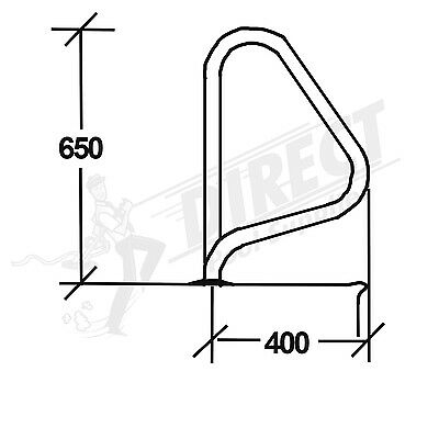 G5 Flanged Grab Rails (SINGLE) Stainless Steel Hand Rail For Swimming Pools