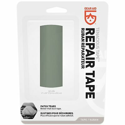 "Gear Aid Tenacious Tape Sage Ripstop 3""x20"" Strong Flexible Waterproof Tape"