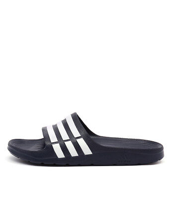 New Adidas Performance Duramo Slide Men's Navy White Navy Mens Shoes Casual