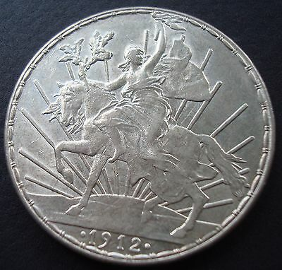 1912 Horse $1 Peso Silver Espectacular Coin  Please see De Coin Uncirculated