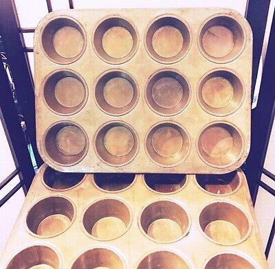 Commercial Cupcake Muffin Baking Pans Bakery Restaurant School * Lots of 2