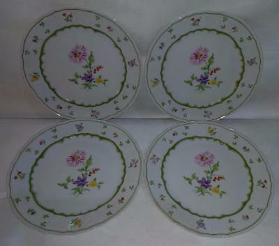 "ML Heinrich H & C Germany Chambord Floral 8"" Salad Plate **LOT OF FOUR** 211213"