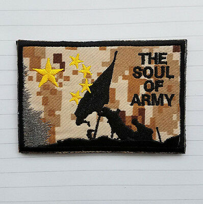 The Soul Of Army Tactical Combat Militray Morale Badge Swat Desert Hook Patch