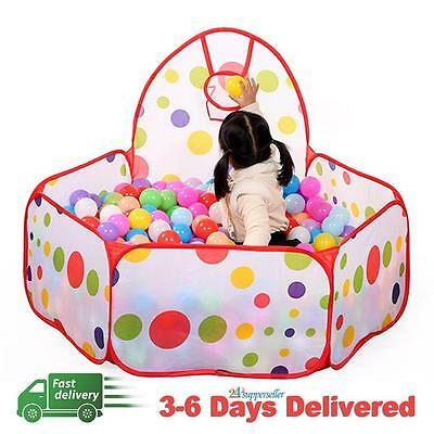 Portable Kids Outdoor Indoor Play Game Ocean Ball Pit Pool Children Toy Tent New
