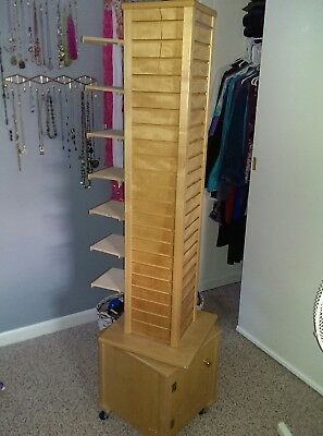 Wooden Display Spinner with Slats