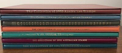 1990-96 Australia Post Year Albums x 7 no stamps