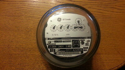 GE CANADA WATTHOUR METER 6 Dial - Glass Cover  L@@K