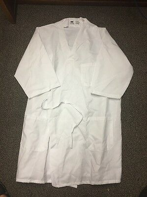 Mens XL White Food Lab Technician Catering Chef Baker Industry 1/2 Sleeve Smock