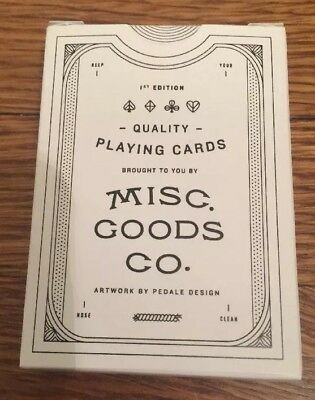 Misc Goods Playing Cards - V1 - Kickstarter - New Unopened #7,157