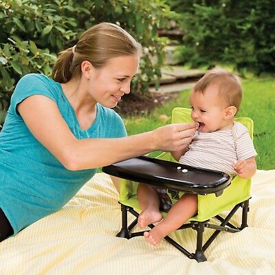 Infant/Toddler Portable Booster Seat, Compact Folding Feeding High Chair, Travel