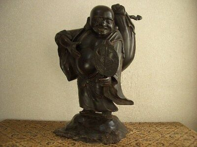 Big size!!Japanese statue of Hotei(a god with a potbelly who is one of the Seven