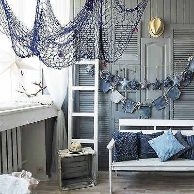 Nautical Fishing Net Seaside Wall Beach Party Sea Shell Home Garden Decor Gift