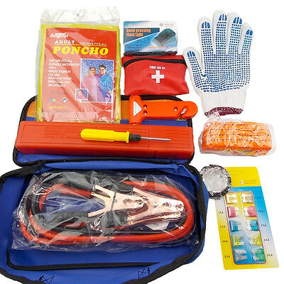 12 Pcs Emergency Breakdown First Aid Kit Bag Travel Home Car Taxi Workplace NEW