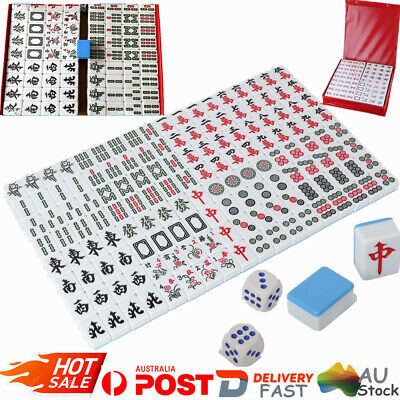 5.5KG Heavy Duty Traditional Chinese Mahjong Game Set 144+2 Blue Tiles Gift Box