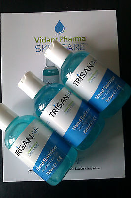 TrisanAF Alcohol Free Hand Santiser WORKS WITHOUT SOAP & WATER 3x100ml OFFER