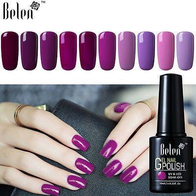 Belen Soak Off UV LED Gel Nail Polish Rosa&Viola Smalto Semipermanente 10ml