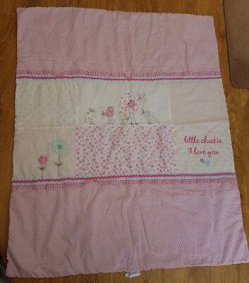 Next baby girls cot bedding duvet coverlet pink great condition