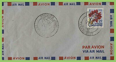 Madagascar 1959 25fr Flower on airmail First Day Cover