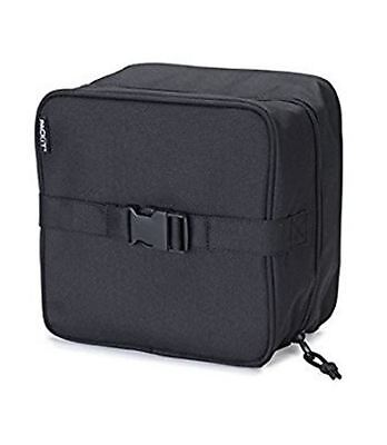 New Packit Freezable Salad Bag Black Plain Canvas Insulated Drink Cooler Storage