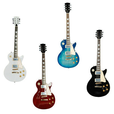 Electric Guitar LP Style Mahogany Body Rosewood Fingerboard Kit Coil Pickups