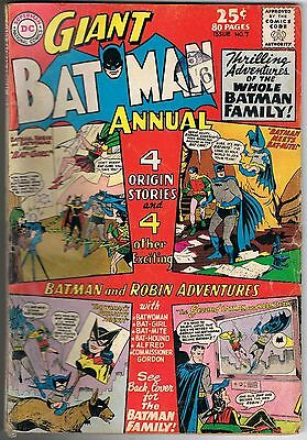 DC Comic GIANT BATMAN ANNUAL #7 Summer 1964 Bat-Girl Robin Batwoman