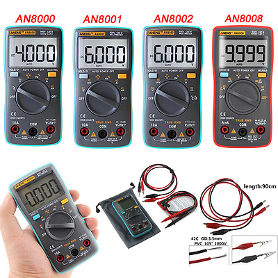 AN8008 True-RMS Digital Multimeter 9999 Counts AC DC Voltage Volt Ammeter Tester