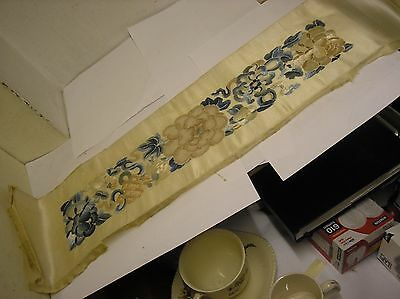 Antique Chinese Silk Embroidered Sleeve Band.
