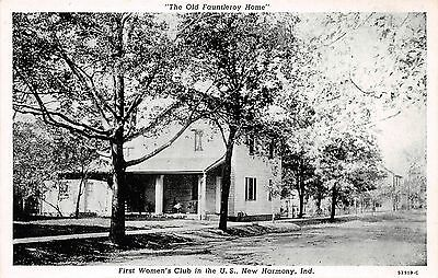 New Harmony Indiana First Women's Club In Us~The Old Fauntleroy Home Postcard