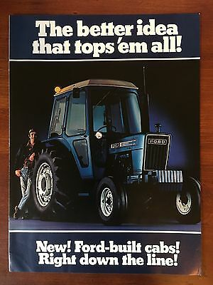 Vintage Original Print BROCHURE Ad FORD 4600 TRACTOR Built-In Cabs ~Better Idea~
